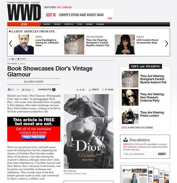 Women's Wear Daily – November 2013