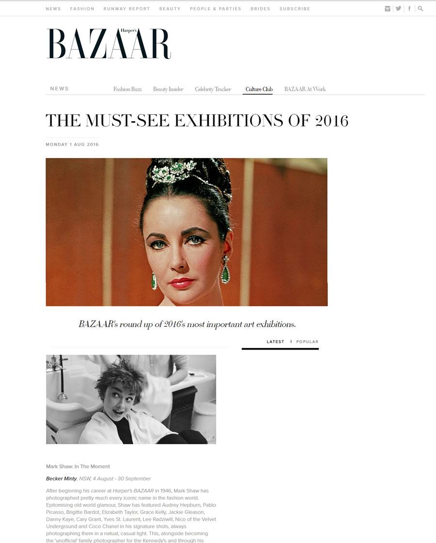 Harper's Bazaar – August 2016