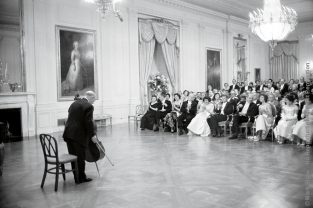 Pablo Cassals Concert At White House. The Source For This Image Was A Vintage 35mm Black And White Negative.