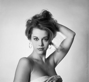 "Mark Shaw's File Of ""test Shots"" Was Full Of Budding Stars; These December 1958 Head Shots Of Jane Fonda Were Never Published. The Source Of This Image Was A Vintage 2.25"" X 2.25"" Black And White Negative."