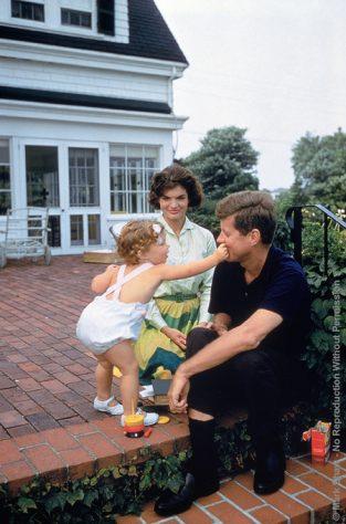 JFK, JBK, Caroline On Patio