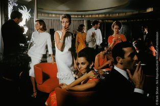 Mod Party On Cruise. A Hip Party Scene Photographed By Mark Shaw For A 1962 US Lines Cruise Ship Advertising Campaign. The Source For This Image Was A Vintage 35mm Color Transparency.