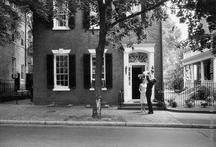 Kennedys In Georgetown 1959. The Source For This Image Was A Vintage 35mm Black And White Negative.