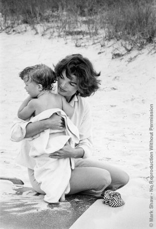 Published On The Cover Of The Ladies Home Journal In 1961, This Photo Was Actually Taken In Hyannis Port In 1959 Before JFK Became President. The Source For This Image Was A Vintage 35mm Black And White Negative.