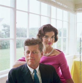 "A Portrait Of Jackie And JFK. The Source For This Image Was A Vintage 2.25"" X 2.25"" Color Transparency."