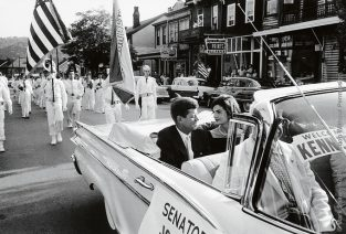 Jackie And JFK In Campaign Car