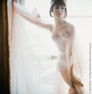 "Ferreras Corset. An Award Winning Corset Design By Miguel Ferreras Photographed By Mark Shaw For LIFE In 1961. The Source Of This Image Was A 2.25"" X 2.25"" Vintage Color Transparency."