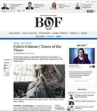 Business of Fashion – Colin's Column- October 2013