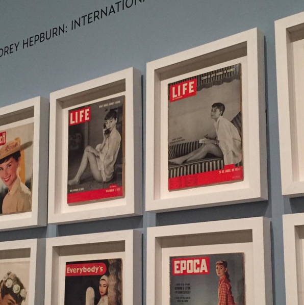 installation view of Mark Shaw covers for Life Magazine