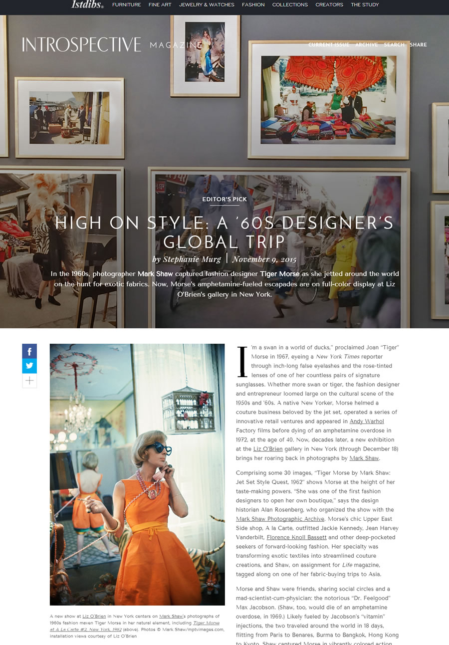 1stDibs: High on Style, a 60s Designer's Global Trip – November 2015