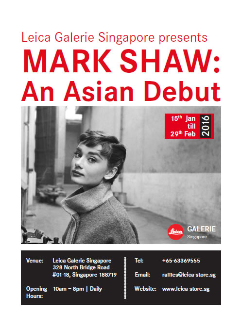 Mark Shaw: An Asian DebutLeica Camera / Chan Hampe Galleries15 January – 29 February, 2016