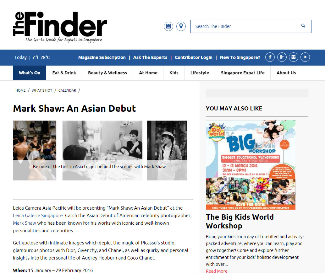 The Finder Singapore – January 2016