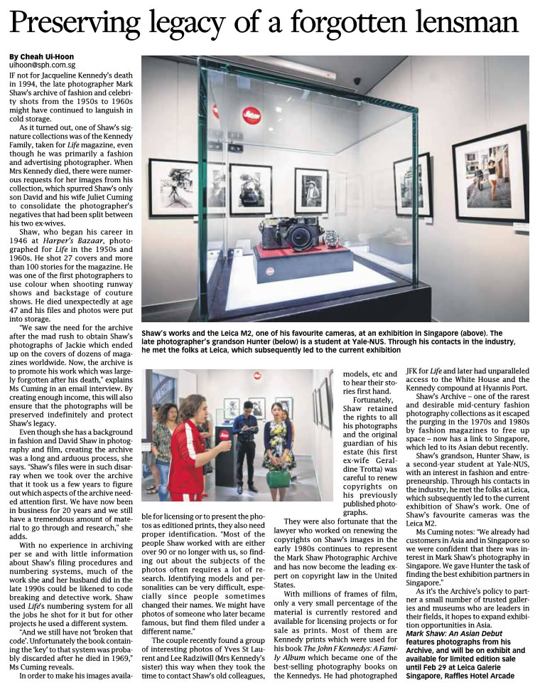 Read about the Archive's history in this coverage of a recent show in Asia. from Singapore Business Times – January 29, 2016.
