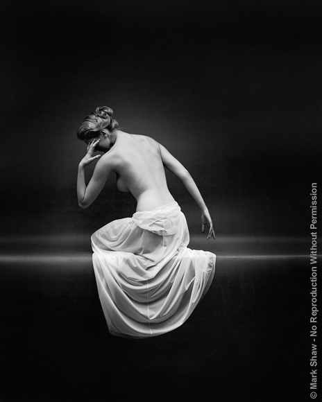 "VF Nude Back. A very popular Mark Shaw image photographed for an award winning Vanity Fair advertising campaign. The source for this image was a vintage 8"" x 10"" black and white negative."