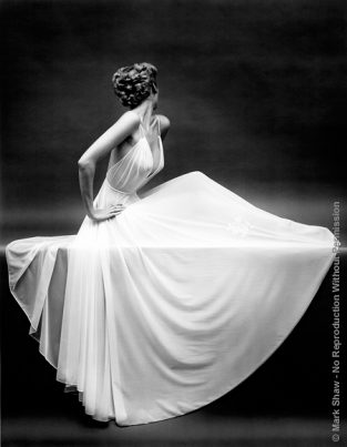 "Vanity Fair Sheer Gown Icon, New York, Ca.1950. One Of Mark Shaw's Favorite Photographs, This Vanity Fair Slip Was Photographed By Mark Shaw For An Award Winning Ad Campaign. The Source For This Image Was A Vintage 8"" X 10"" Black And White Negative."
