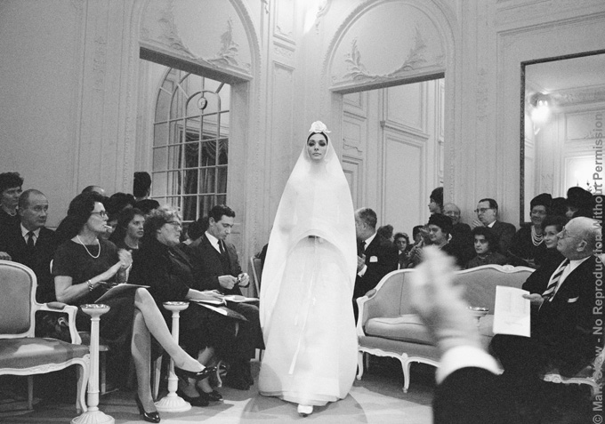 Dior, Kouka Wears Hymenee, 1961. The source for this image was a vintage 35mm black and white negative.