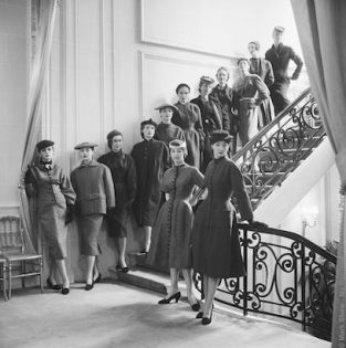 "Dior, The First Thirteen Diors, 1953 The Source Of This Image Was A Vintage 2.25"" X 2.25"" Black And White Negative."