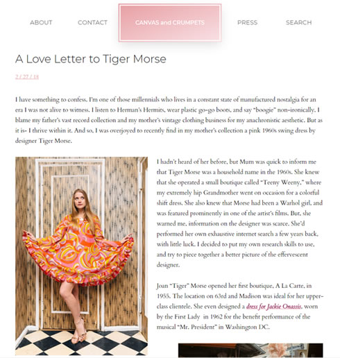 Canvas & Crumpets – A Love Letter to Tiger Morse
