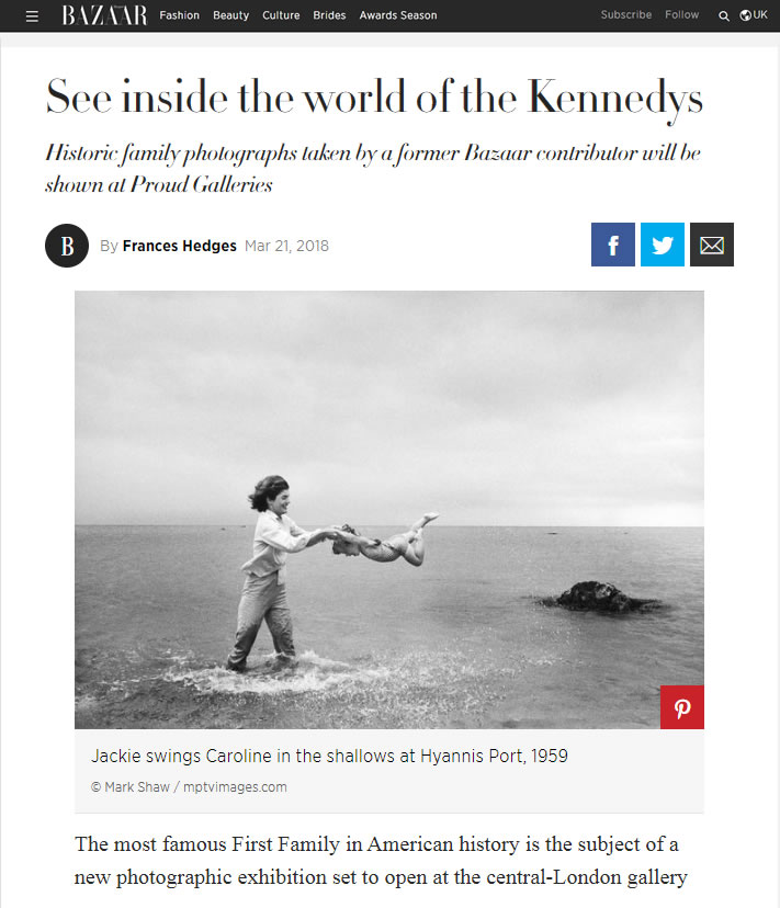 Harpers Bazaar – See inside the World of the Kennedys