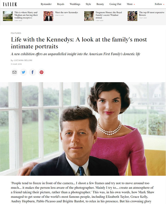 Tatler – Life with the Kennedys: A Look at the Family's Most Intimate Portraits