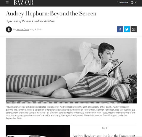 Audrey Hepburn: Beyond the Screen – Harper's Bazaar