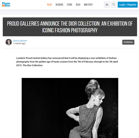 Proud Galleries Announce The Dior Collection | PhotoBite.uk